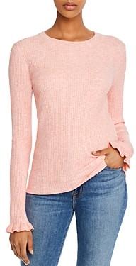 Rebecca Taylor La Vie Ribbed Ruffle Detail Sweater