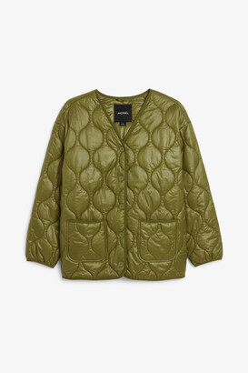 Monki Quilted liner jacket
