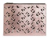 Kenzo Cutout Python Leather Pouch