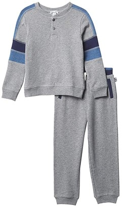 Splendid Littles Baby French Terry Henley Top Set (Toddler/Little Kids/Big Kids) (Charcoal Heather) Boy's Active Sets