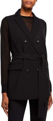 Lafayette 148 New York Greer Double Face Luxe Italian Belted Vest