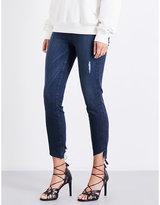 Good American Good Waist Cascade Hem skinny high-rise jeans