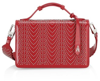Alaia Small Franca Studded Leather Shoulder Bag