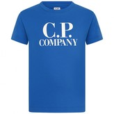 C.P. Company C.P. CompanyBoys Blue Logo Print Top