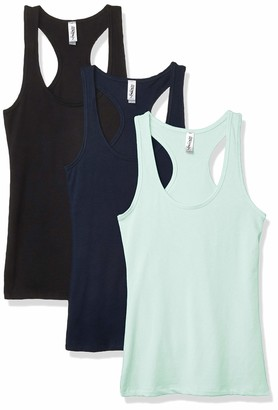 Marky G Apparel Women's Jersey Spandex Racerback Tank Top (Pack of 3)