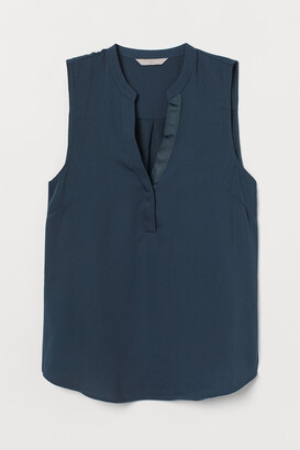 H&M V-neck Blouse - Turquoise