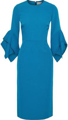 Roksanda Two-tone Draped Cady Dress