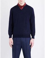 Brunello Cucinelli V-neck Knitted Wool Jumper