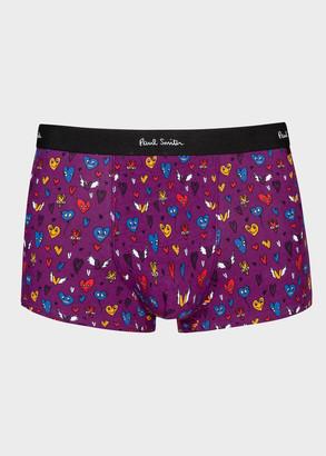 Paul Smith Men's Purple 'Heart' Print Boxer Briefs