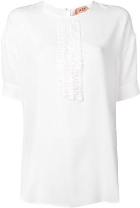 No.21 ruffle panel T-shirt
