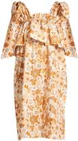 Chloé Ruffled-tier floral-print cotton dress