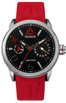 Reebok Flashline Stainless Steel and Silicone Analog Watch