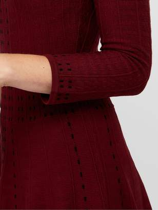 Monsoon Freja Fit and Flare Knitted Dress - Berry
