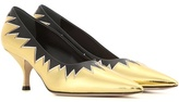 Miu Miu Metallic Leather Kitten-heel Pumps