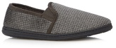 Maine New England Khaki Checked Moccasin Slippers