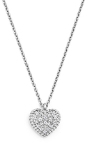 Bloomingdale's Diamond Pave Heart Pendant Necklace in 14K White Gold, .08 ct. t.w. - 100% Exclusive