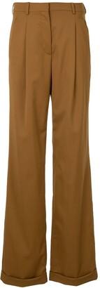 Oscar de la Renta High-Waisted Wool Trousers
