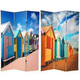 East Urban Home Beach Cabana 3 Panel Room Divider East Urban Home