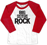 Micro Me White & Red 'Big Sisters Rock' Raglan Tee - Toddler & Girls