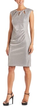 R & M Richards Petite Embellished Sheath Dress