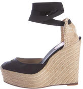 Christian Louboutin Tie-Up Platform Wedges