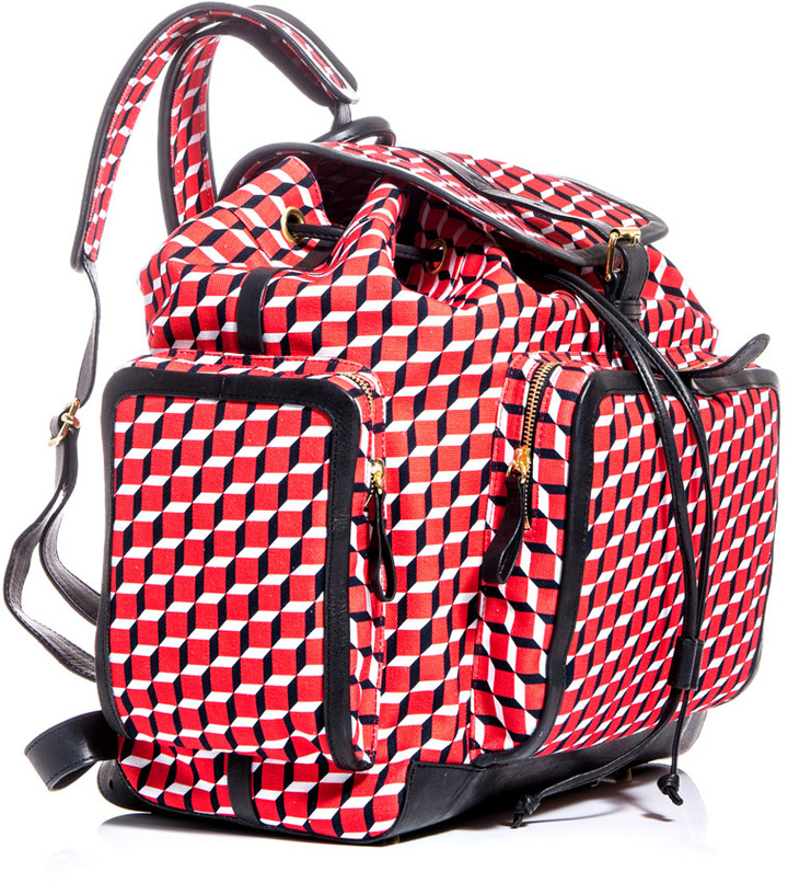 Pierre Hardy Cotton cube-print rucksack