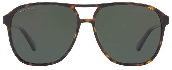 Gucci Acetate Aviator Sunglasses