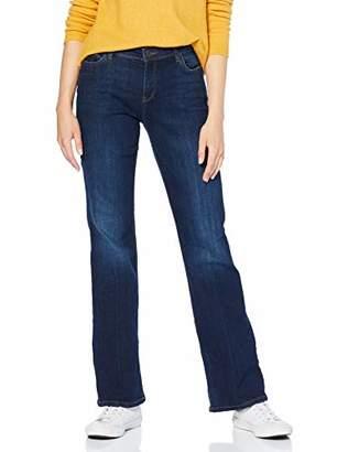 Esprit Women's 089ee1b006 Bootcut Jeans, (Blue Dark Wash 901), W26/L32 (Size: 26/32)