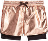 Ideology Metallic Layered-Look Shorts, Little Girls, Created for Macy's