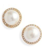 Sterling Forever Imitation Pearl Stud Earrings