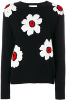 Zanone intarsia flower jumper