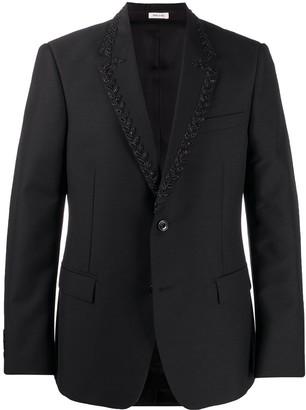Alexander McQueen Beaded Single-Breasted Jacket