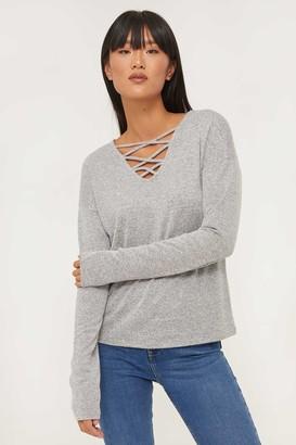 Ardene Strappy V-neck Sweater