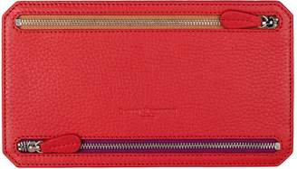 Richmond David Hampton Leather Multi Currency Wallet In Poppy Red