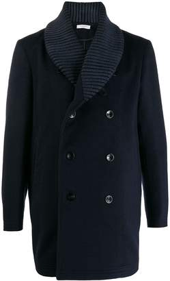 Boglioli ribbed collar coat