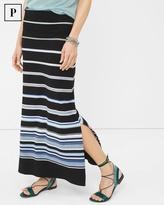 White House Black Market Petite Gradient Stripe Convertible Maxi Skirt