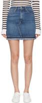 Rag & Bone Blue Denim Dive Miniskirt