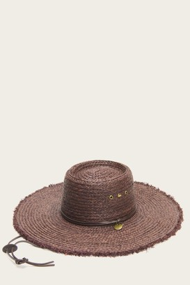 The Frye Company Raffia Telescope Wide Brim Hat