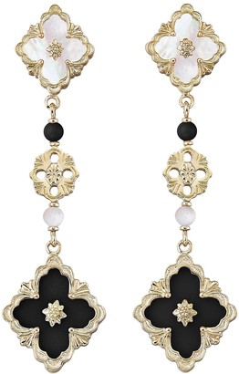 Buccellati 'Opera' onyx Mother of Pearl yellow gold drop earrings