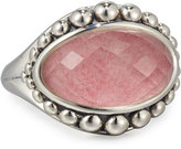 Lagos Maya East-West Rhodochrosite Doublet Dome Ring, Size 7