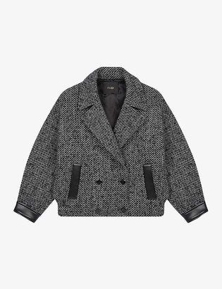 Maje Galine double-breasted wool-blend jacket
