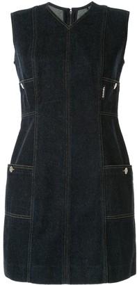 Chanel Pre Owned Sleeveless Denim Dress