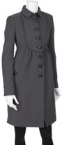 Wool Coat With Ruffle Bib