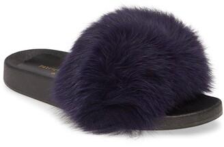 Patricia Green Foxy Genuine Fox Fur Slipper