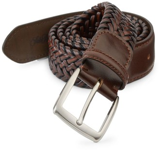 Saks Fifth Avenue COLLECTION Braided Burnished Leather Belt