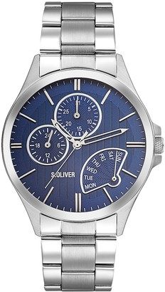 S'Oliver Men's Watch XL Analogue Quartz Stainless Steel SO - 2902 MM