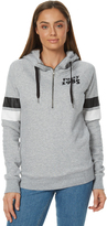 Rusty Womens Wilson Hooded Fleece Grey