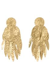 Josie Natori Gold Brass Dangling Earrings