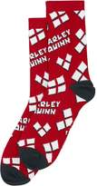 Harley Quinn Heart Logo Tossed Print Junior Crew Socks
