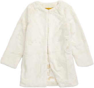 Boden Mini Harry Potter Hedwig Faux Fur Coat